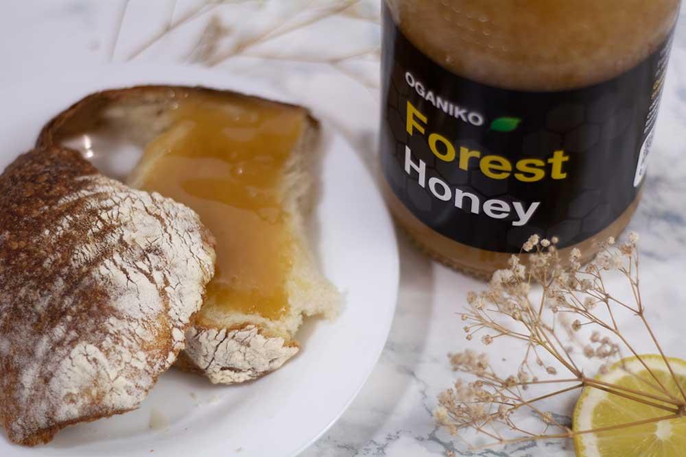 OGANIKO Forest Honey on bread